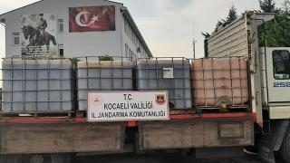 Kocaeli'de kamyondan 6 ton kaçak akaryakıt çıktı