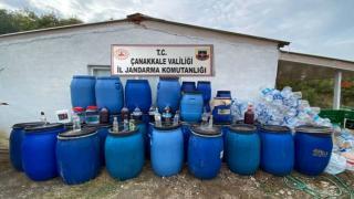 Çanakkale'de 3 bin litre kaçak içki ele geçirildi
