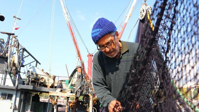 Karadenizli balıkçılar Marmarada lüfer avlıyor