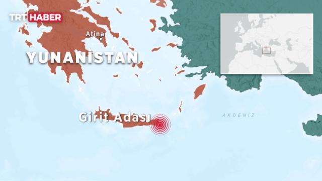 Yunanistanda 6,3 büyüklüğünde deprem