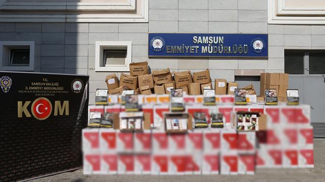Samsunda 4 milyon 230 bin bandrolsüz makaron ele geçirildi