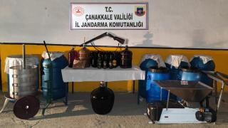 Çanakkale'de 1355 litre sahte içki ele geçirildi