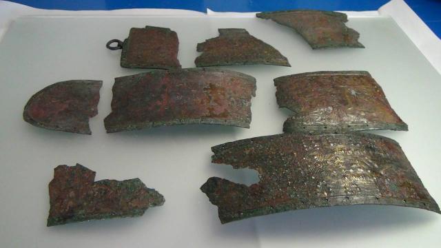 Satala Antik Kentinde Urartu savaşçısının bronz kemeri bulundu