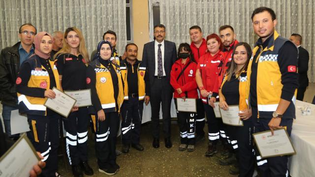 Kütahyada, Kastamonudaki sel bölgesinde görev alan 150 personele teşekkür belgesi verildi
