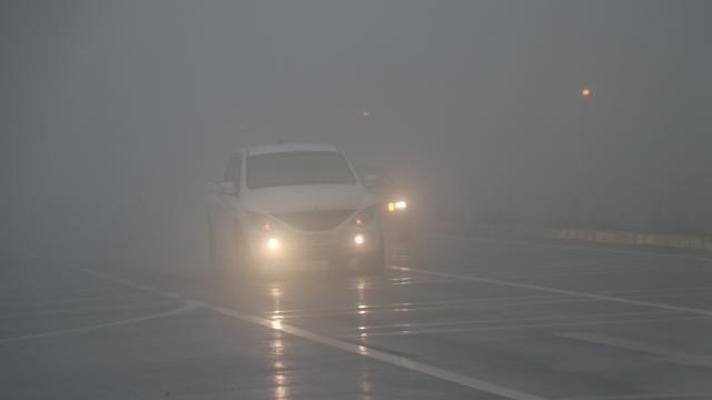 Bolu Dağında sis ve sağanak ulaşımı olumsuz etkiliyor