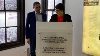 Özlem Türeci ve Uğur Şahin'den Atatürk Evi'ne ziyaret