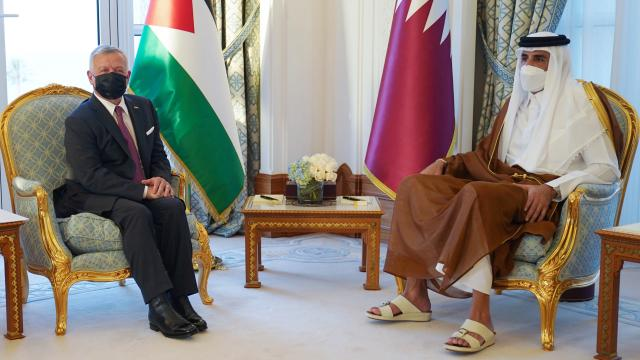 """Ürdünden """"Katar ile güçlü ilişki"""" mesajı"""