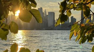 Hudson Nehri'nde gün doğumu
