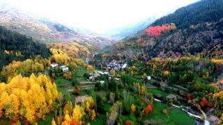 Artvin'de sonbahar güzelliği havadan görüntülendi