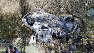 Bolu'da otomobil dereye devrildi: 2 ölü