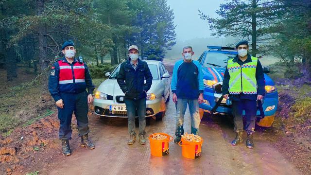 Boluda mantar toplamak isterken ormanda kaybolan 2 kişi bulundu