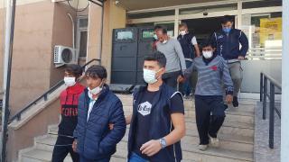 Erzincan'da 8 düzensiz göçmen yakalandı