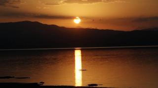 Burdur Gölü'nde gün batımı
