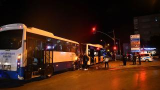 Gaziantep'te iki otobüs çarpıştı: 9 yaralı