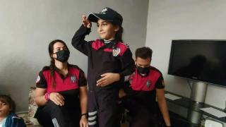 7 yaşındaki Ebru'nun polislik hayali gerçek oldu