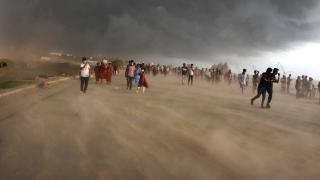 Bangladeş'te kum fırtınası