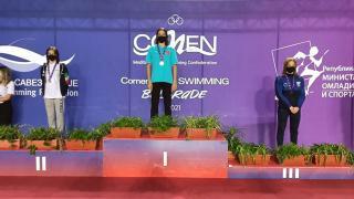 Milli yüzücü Talya Erdoğan, Comen Cup Yüzme Müsabakası'nda birinci oldu