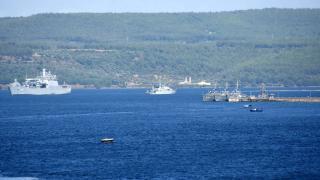 NATO savaş gemileri tatbikat için Çanakkale'de
