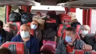 Çuvallarla dolu seyahat eden otobüs firmasına ceza