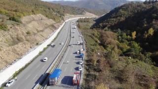 Samsun'daki kaza yeri havadan görüntülendi
