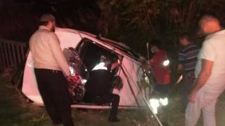 Osmaniye'de otomobil devrildi: 1 ölü, 5 yaralı