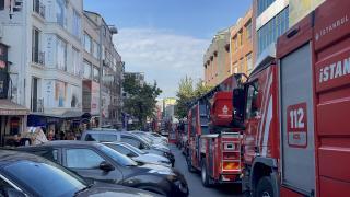 Fatih'te bir iş yerinde yangın çıktı