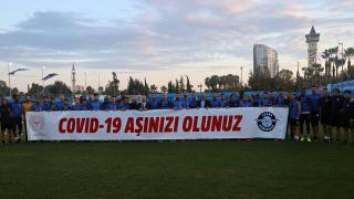 Adana Demirspor'dan aşılama kampanyasına destek