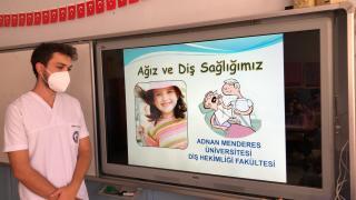 Germencik'te ilkokul öğrencilerine ağız diş sağlığı eğitimi verildi