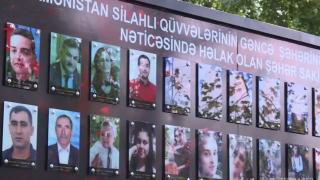 Gence'de Ermenistan saldırılarında yaşamını yitirenler anıldı