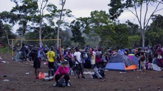 Panama-Kolombiya sınırındaki göçmenlerin yolculuğu