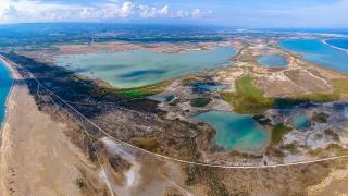 Göksu Deltası Kuş Cenneti dronla görüntülendi