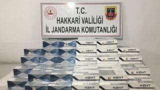 Hakkari'de gümrük kaçağı 3 bin 960 paket sigara ele geçirildi