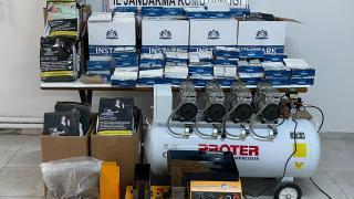 Malatya'da kaçak sigara üretimi yapılan eve operasyon düzenlendi