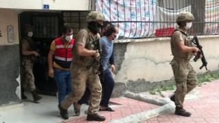 Osmaniye'de DEAŞ ve PKK'ya yönelik operasyonda yakalanan 3 zanlı tutuklandı