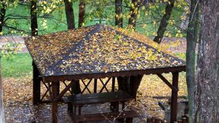 Sivas'ta `Hobbit Evleri`nin de bulunduğu mesire alanında sonbahar güzelliği