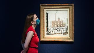 Christie's müzayede evinde Churchill'in eseri sergilendi