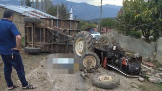 Bilecik'te traktörün devrilmesi sonucu 1 kişi öldü, 1 kişi yaralandı