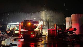 Düzce'de geri dönüşüm fabrikasında yangın