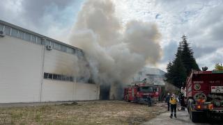Eskişehir'de ambalaj fabrikasında yangın