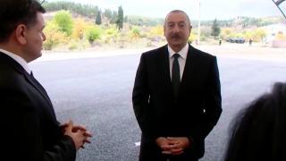 Aliyev'den Zengilan'a ziyaret