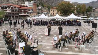 Amasya'da askeri bando takımından `Büyük Zafer` konseri