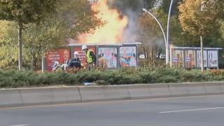 MTA'daki patlama anı kamerada