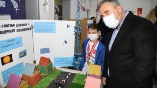 Çubuk'taki Dumlupınar İlkokulunda TÜBİTAK destekli bilim fuarı düzenlendi