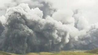 Japonya'daki Aso Yanardağı'nda patlama