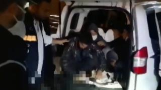 Durdurulan araçtan 10 düzensiz göçmen çıktı