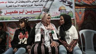 Filistinli anne 6 yıl sonra çocuklarına kavuştu
