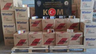 Gaziantep'te kaçakçılık operasyonu: 21 milyondan fazla makaron ele geçirildi