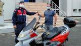 Çalıntı motosiklet jandarmanın dikkati sayesinde bulundu