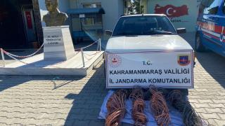 Kahramanmaraş'ta kablo hırsızlığı yaptıkları iddiasıyla 2 şüpheli yakalandı