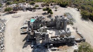 Kaunos'ta Bizans kilisesi ve mezarlar bulundu